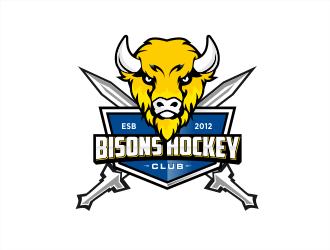 Bisons Hockey Club logo design by evdesign