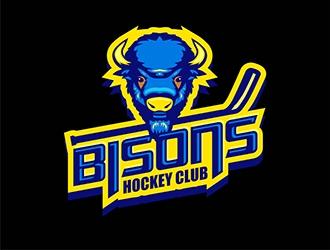 Bisons Hockey Club logo design by gitzart