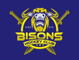 Bisons Hockey Club logo design by Conception