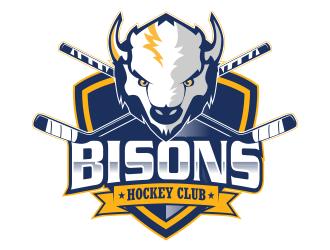 Bisons Hockey Club logo design by qqdesigns