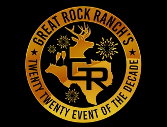 Great Rock Ranch's Twenty Twenty  Event Of The Decade logo design