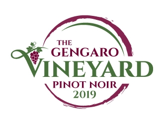 The Gengaro Vineyard logo design