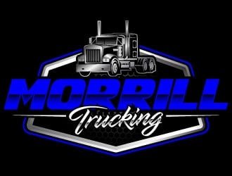 Morrill Trucking  logo design