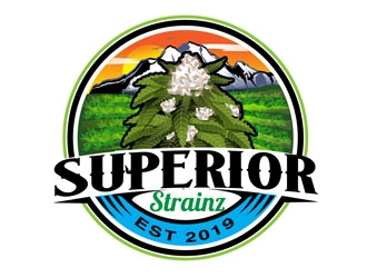 Superior Strainz logo design