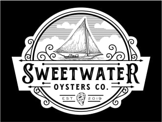 sweetwater oysters company  logo design