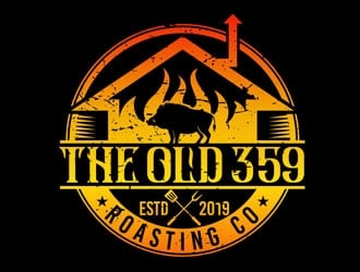 The Old 359 Roasting Co. logo design