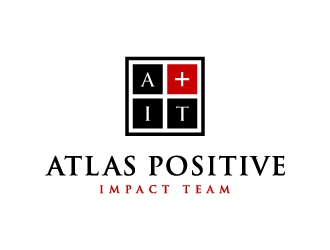 Atlas Positive Impact Team (A plus symbol here IT) logo design