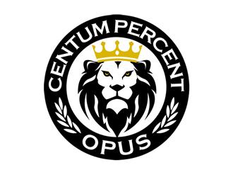 100% Work or One Hundred Percent Work logo design