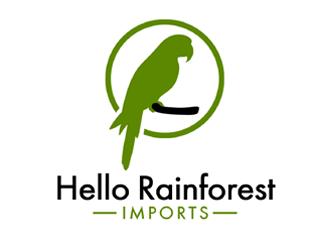 Hello Rainforest Imports  logo design