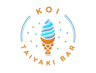 KOI TAIYAKI BAR logo design