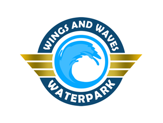 Wings and Waves Waterpark logo design