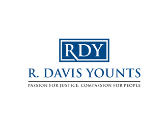 R. Davis Younts, Esq. logo design