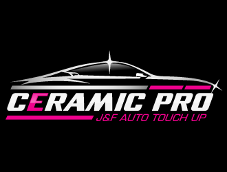 Ceramic pro by J&F Auto Touch Up logo design