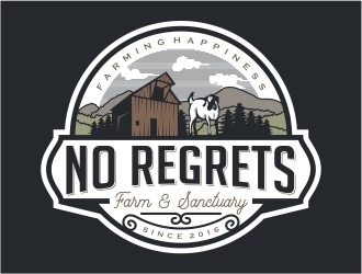 No Regrets Farm & Sanctuary logo design