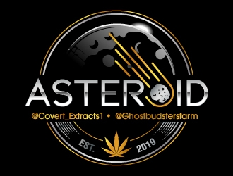 Asteroid logo design