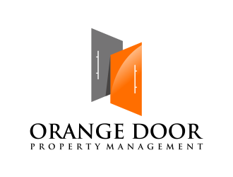 Orange Door Property Management  logo design
