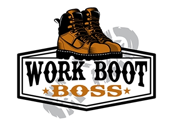 Work Boot Boss logo design