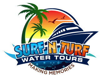 surf n turf water tours  logo design