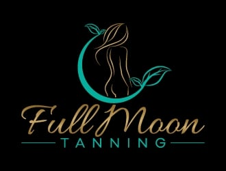 Full Moon Tanning logo design