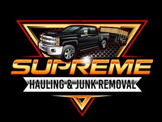 Supreme Junk Removal  logo design