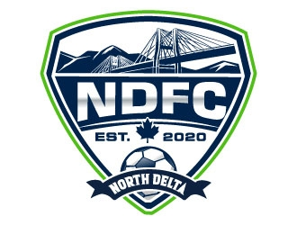 North Delta Football Club   we also use NDFC logo design winner