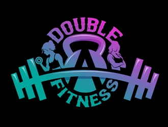 Double A Fitness logo design