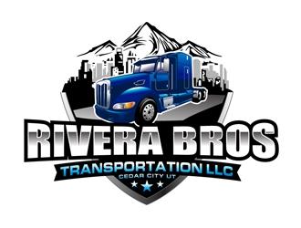 Rivera Bros Transportation LLC logo design