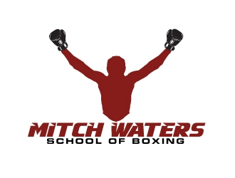 Mitch Waters School Of Boxing logo design by AamirKhan