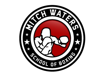 Mitch Waters School Of Boxing logo design by NikoLai