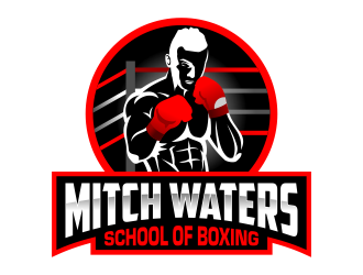 Mitch Waters School Of Boxing logo design by ingepro