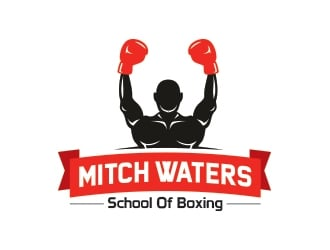 Mitch Waters School Of Boxing logo design by yippiyproject