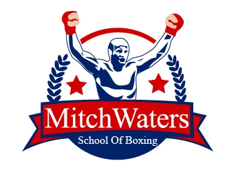 Mitch Waters School Of Boxing logo design by art-design