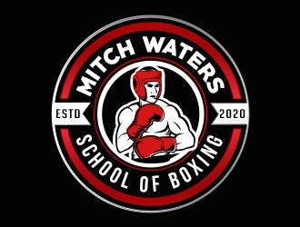 Mitch Waters School Of Boxing logo design by Benok