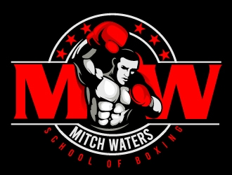 Mitch Waters School Of Boxing logo design by dorijo