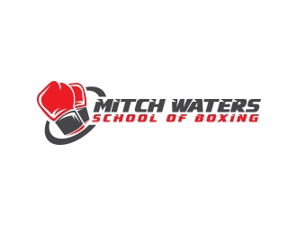 Mitch Waters School Of Boxing logo design by AB212