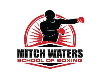 Mitch Waters School Of Boxing logo design by Kirito
