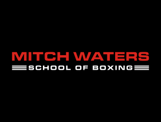 Mitch Waters School Of Boxing logo design by N3V4
