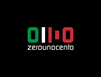 0 1 100 logo design