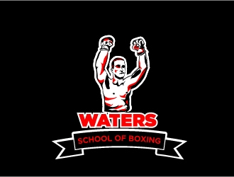 Mitch Waters School Of Boxing logo design by Mirza