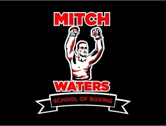 Mitch Waters School Of Boxing Logo Design