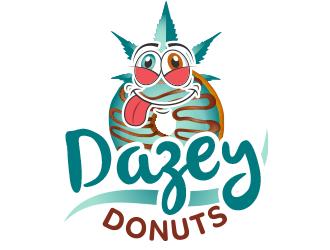Dazey Donuts logo design