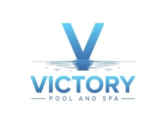 Victory Pool and Spa logo design