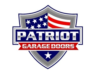 Patriot Garage Doors logo design