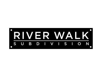 River Walk Subdivision logo design