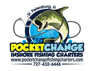 Pocket Change Inshore Fishing Charters logo design