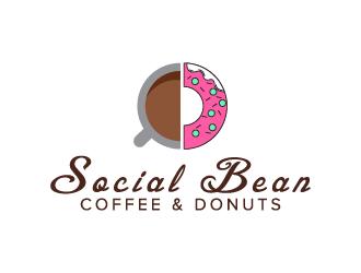 Social Bean Coffee & Donuts logo design