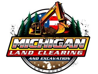 Michigan Land Clearing and Excavation  logo design winner