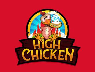 High Chicken  logo design