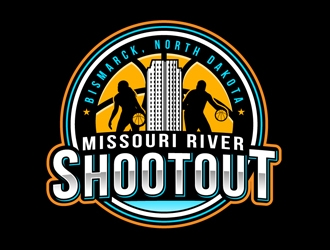 Missouri River Shootout logo design
