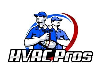 HVAC Pros Heating, Ventilation, & Air Conditioning  logo design